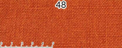 Tessuto Cotone e Lino Colore arancione