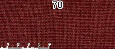 Tessuto Cotone e Lino Colore rosso mattone