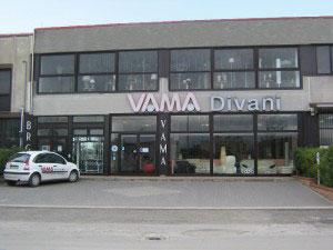 Showroom VAMA Divani ad Arezzo città