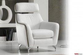 Poltrone moderne in pelle e in tessuto comode e di design for Poltrona letto pelle