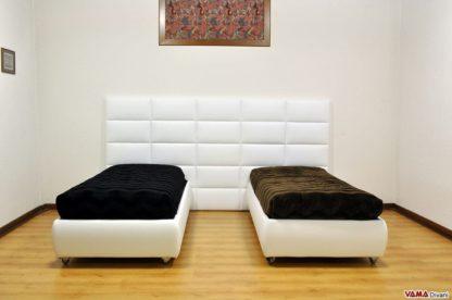 Boiserie Moderna in pelle bianca