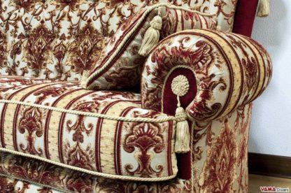 Bracciolo divano con nappe