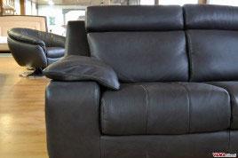Bracciolo Divano in Pelle Moderno colore antracite nero