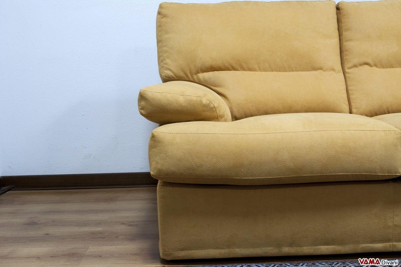 Divano in microfibra con schienale alto e avvolgente - Divano letto quadrato ...