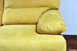 Bracciolo divano in Microfibra colore Giallo