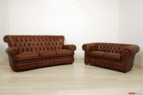 Divani Chesterfield vintage in pelle