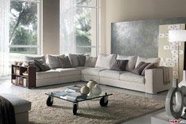 Divano in pelle e tessuto con poggiatesta relax reclinabili for Divani bellissimi moderni