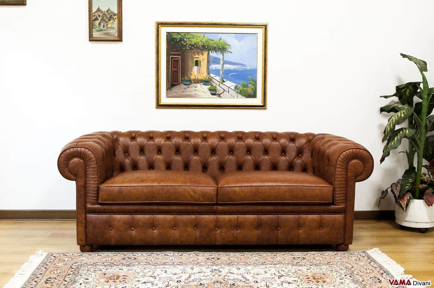 Divani pelle invecchiata idee per il design della casa - Divani in pelle ikea ...