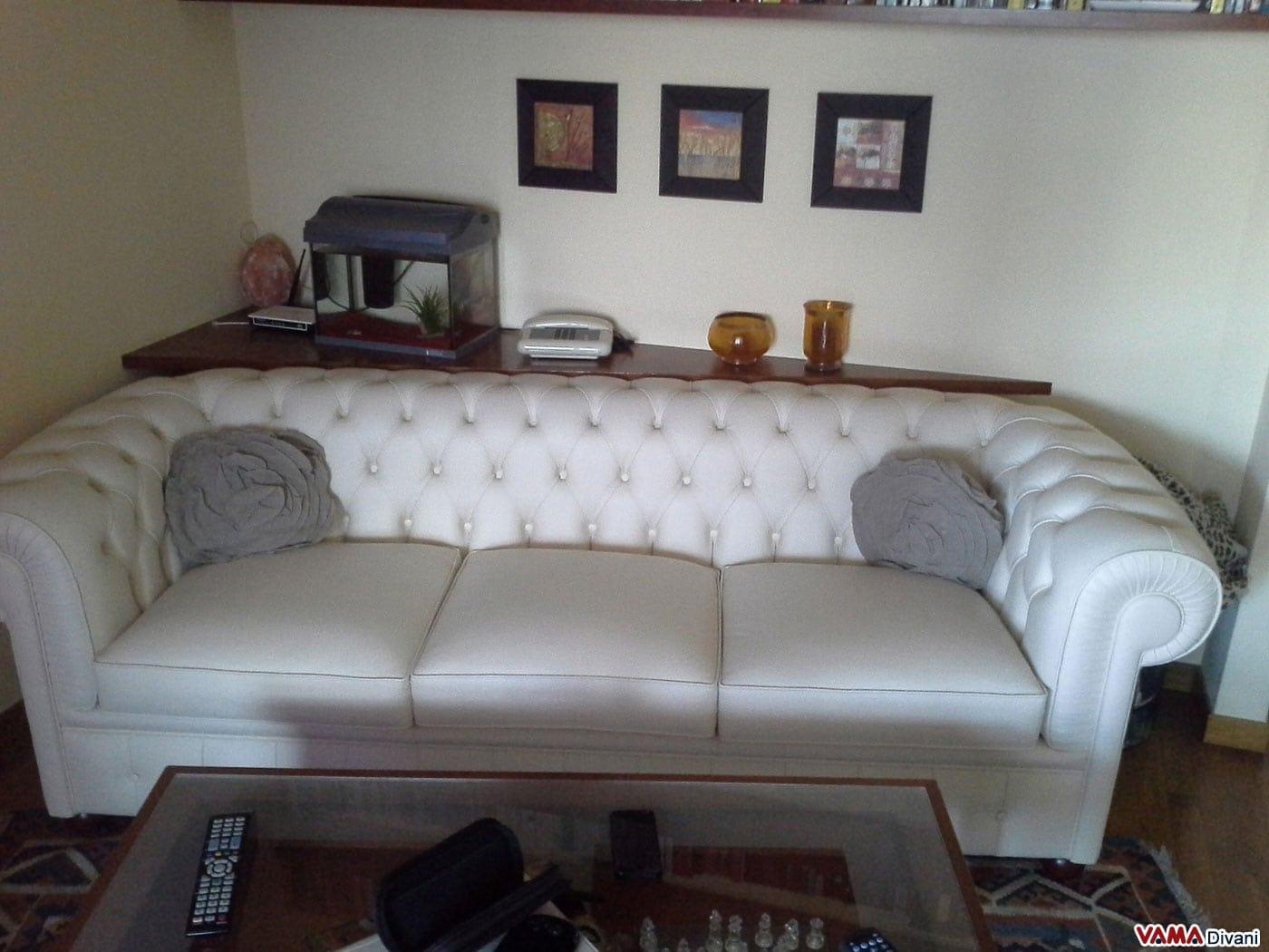 Divano letto bianco usato design casa creativa e mobili - Divano letto matrimoniale usato ...