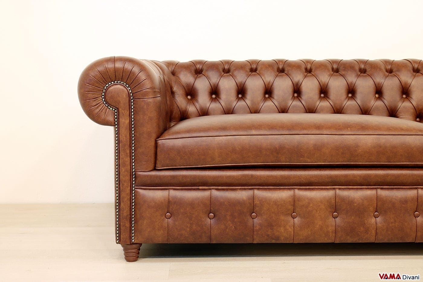 Divani Pelle Marrone Vintage : Divano in pelle vintage simple abile divano chester rosso vintage