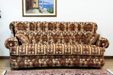 Divano Classico di lusso in tessuto damascato