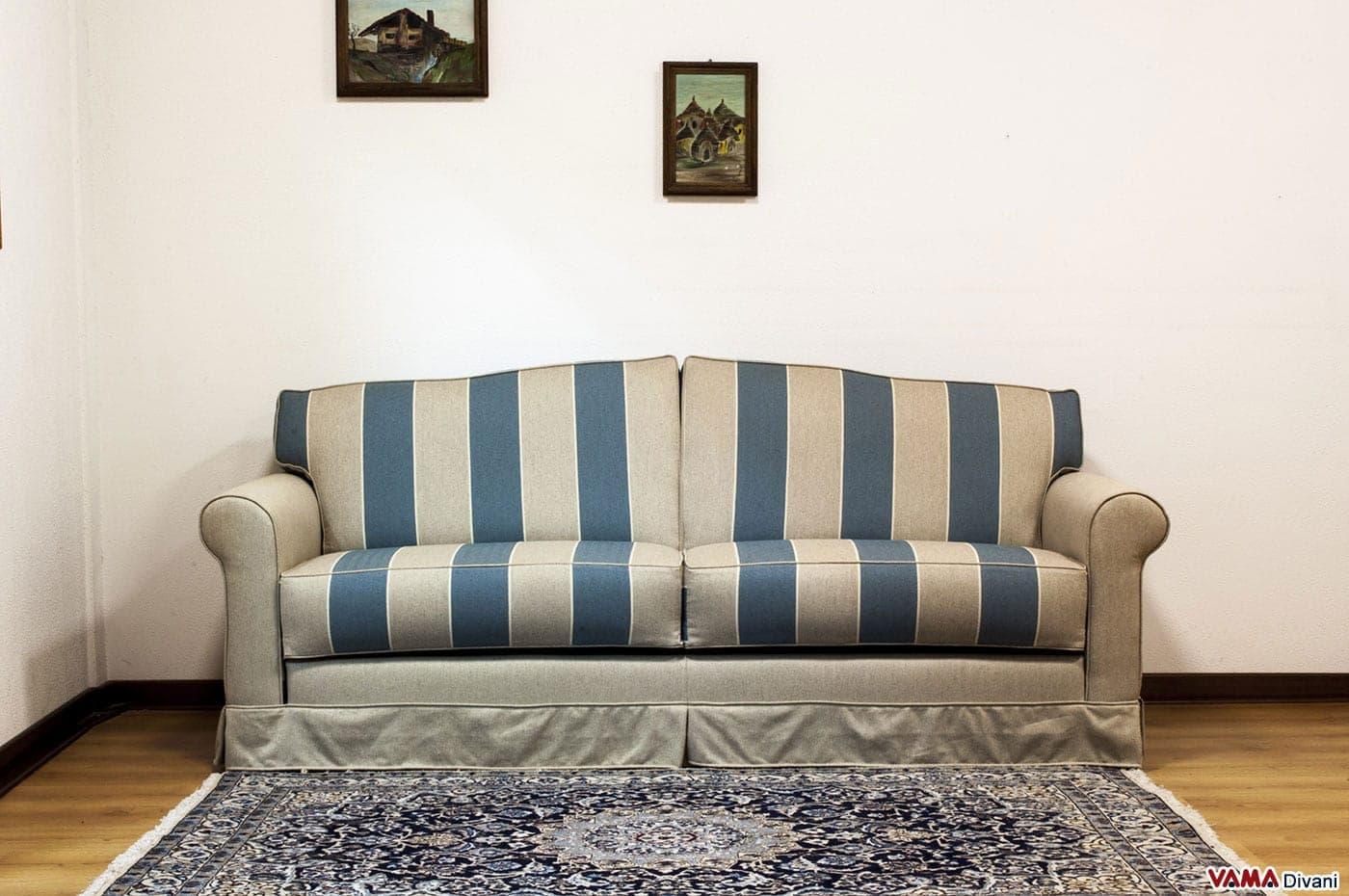 divano letto matrimoniale classico in tessuto