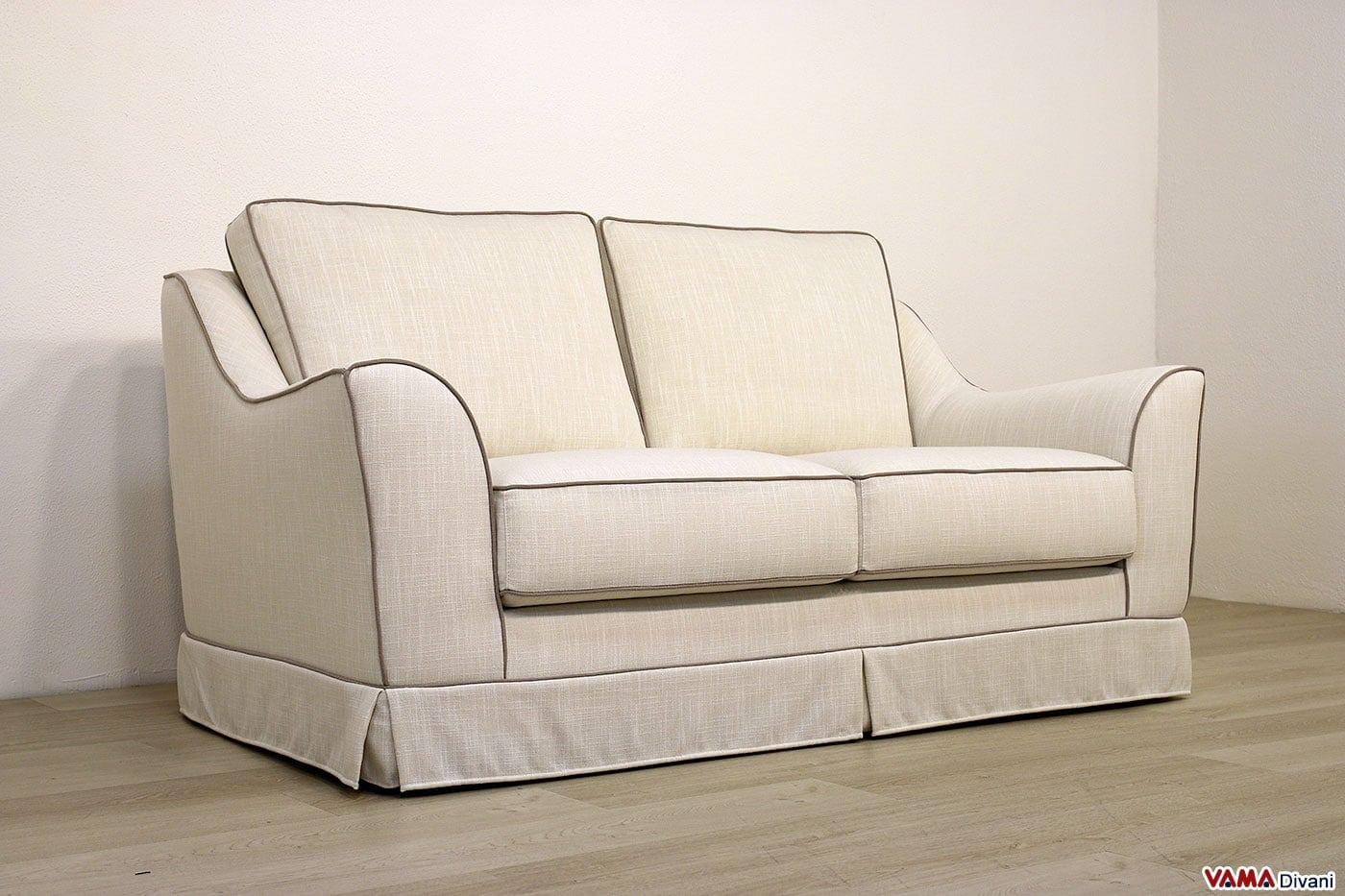 Divano classico marte vama divani - Misure divano 2 posti ...