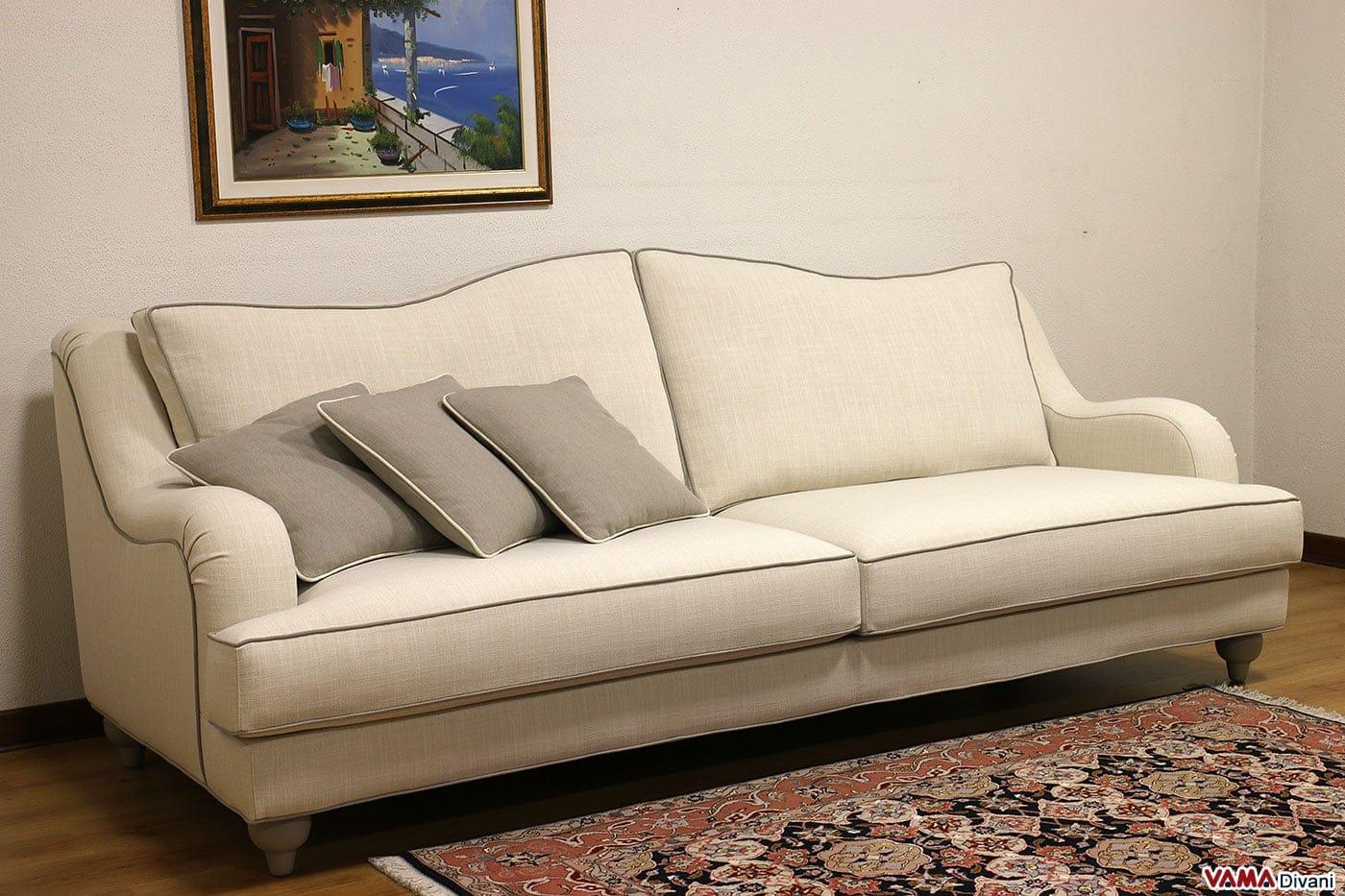 Divano classico artigianale realizzabile su misura - Divano classico tessuto ...