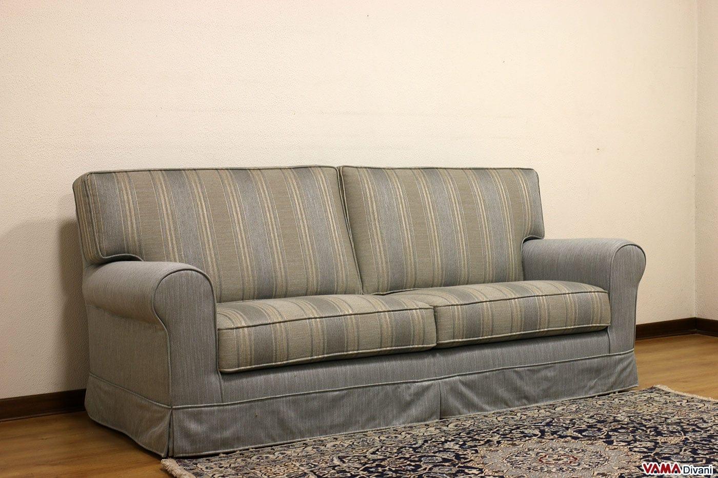 divano classico in tessuto sfoderabile anche su misura