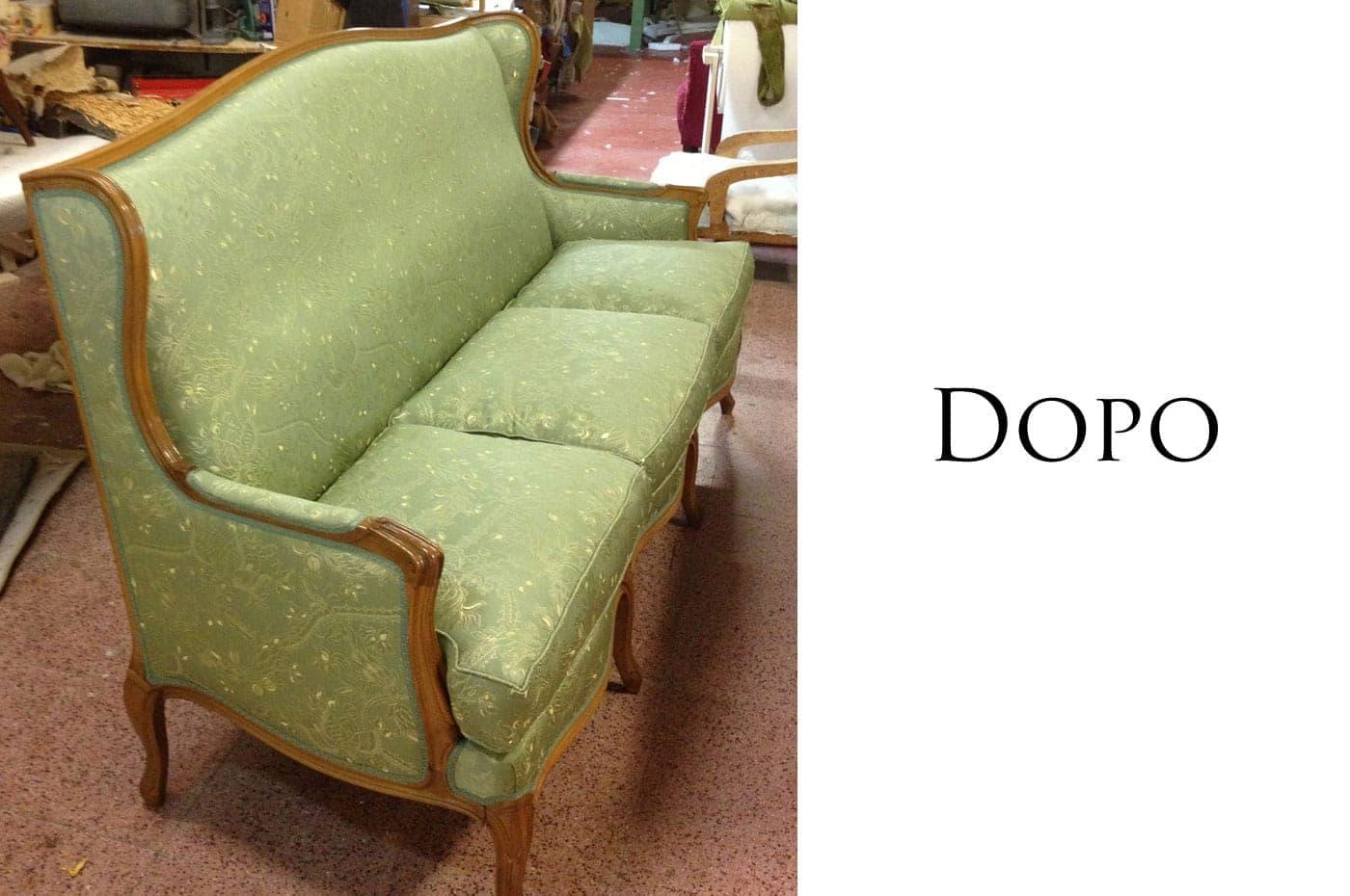 Rivestire divani e poltrone vecchi costi e prezzi for Prezzi per rivestire un divano