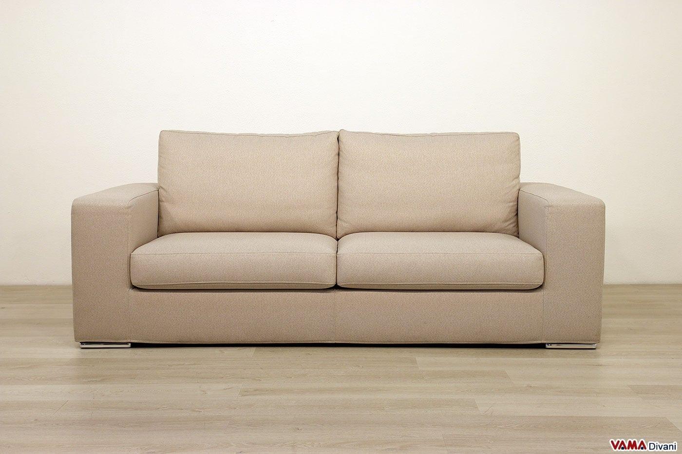 Divano moderno di design in tessuto grigio anche su misura for Divani moderni di design