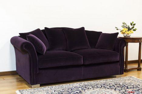 Divano Classico in Velluto Viola cipolla Scuro
