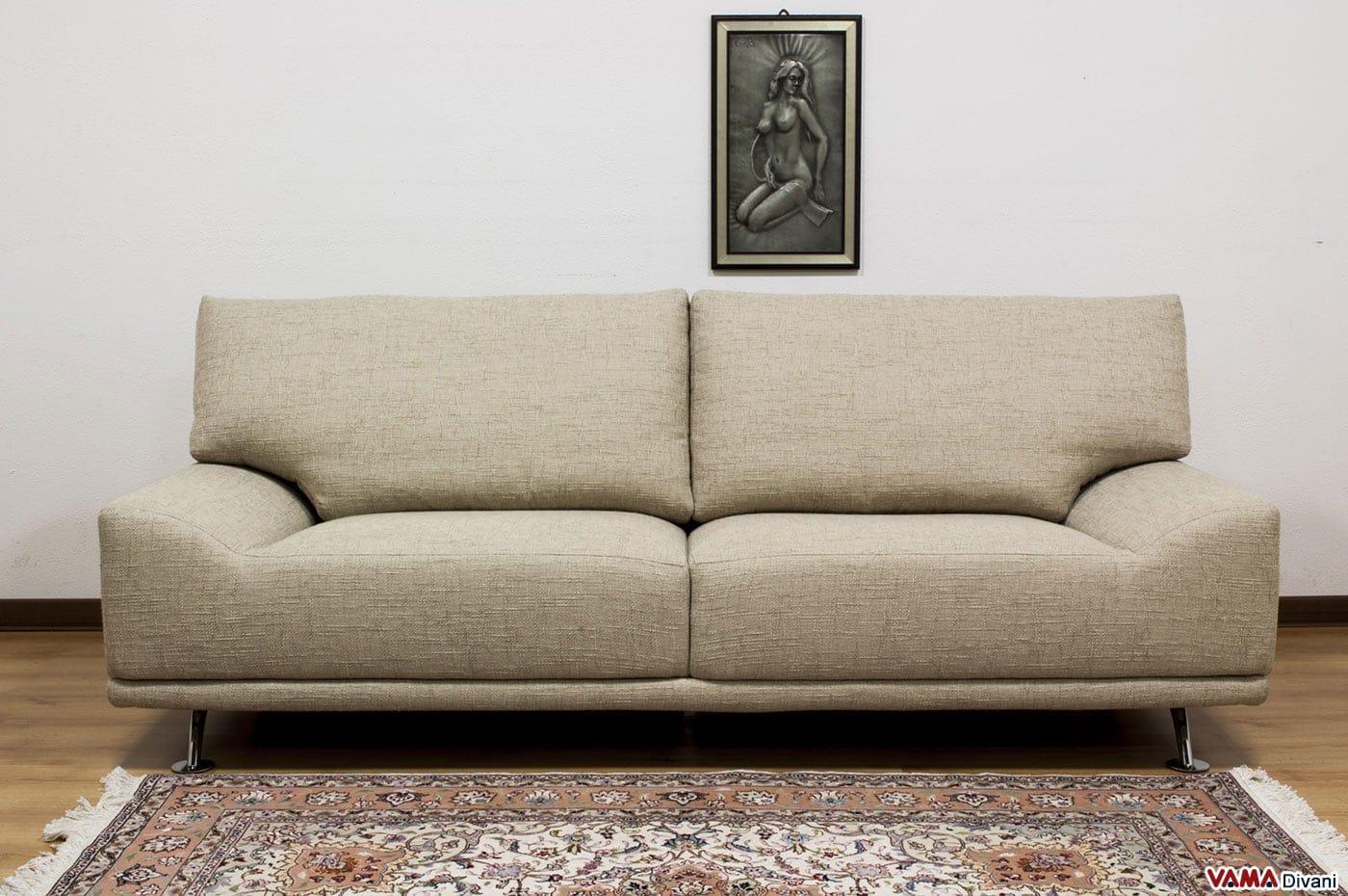Divano moderno in tessuto sfoderabile senza braccioli for Sofa divano