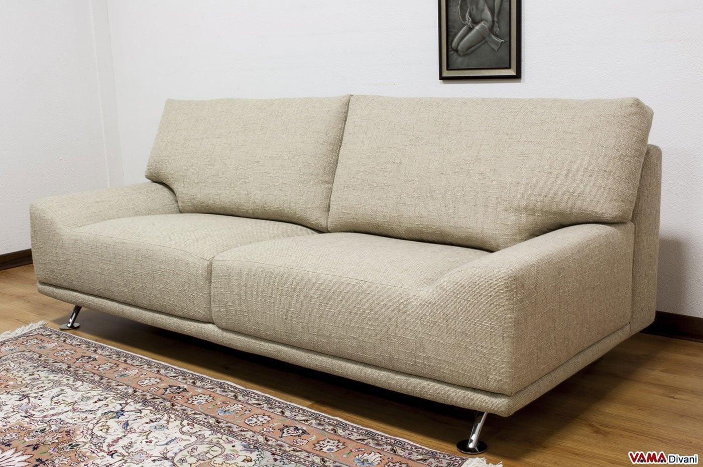 divano moderno in tessuto sfoderabile senza braccioli
