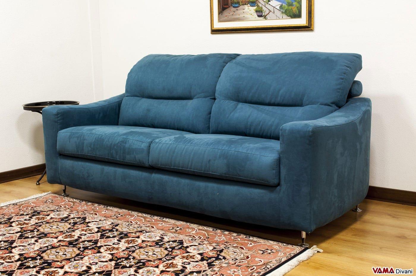 Divano moderno in tessuto con sostegno per la testa - Microfibra divano ...