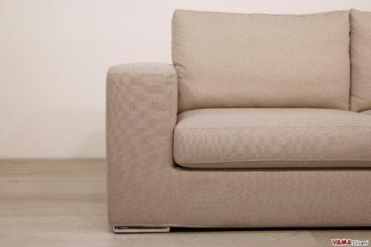 Bracciolo divano in tessuto beige