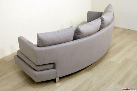 Divano moderno di design con schienale curvo