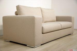 Divano moderno di design in tessuto grigio