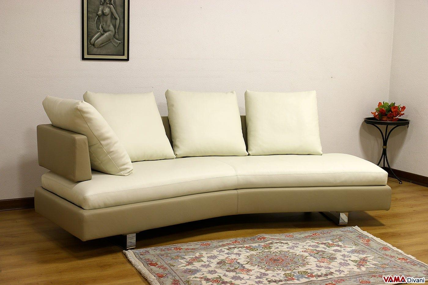 Divano moderno semitondo in tessuto sfoderabile di grandi for Divani curvi design