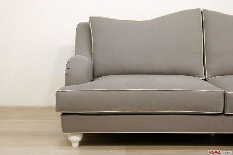 Divano per soggiorno in stile classico in tessuto