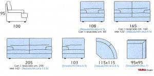 Dimensioni divano C9