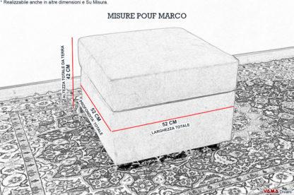 Misure Pouf Contenitore in microfibra