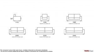 Dimensioni divano Giove