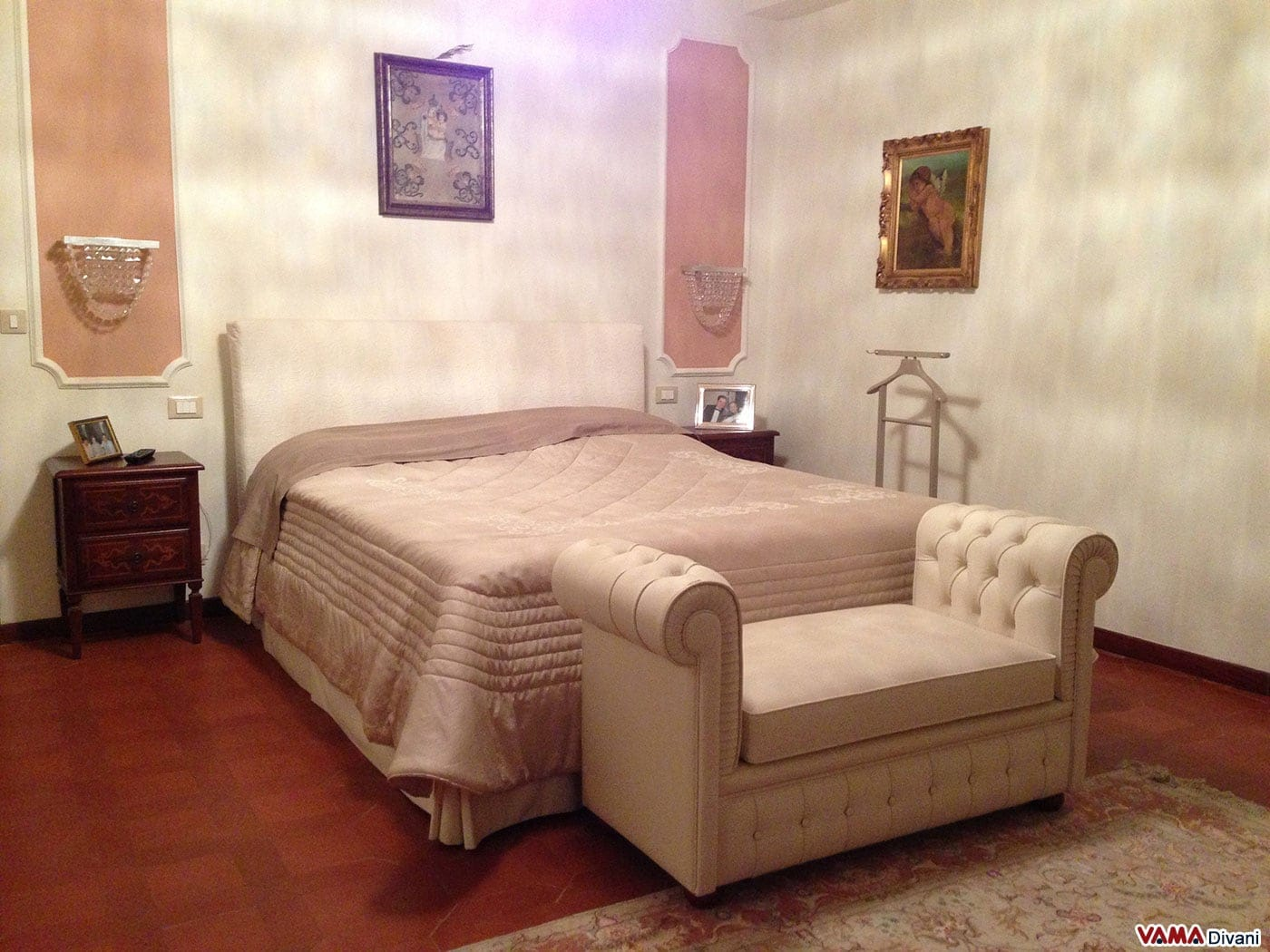 Panca Chesterfield ideale per Camere da Letto