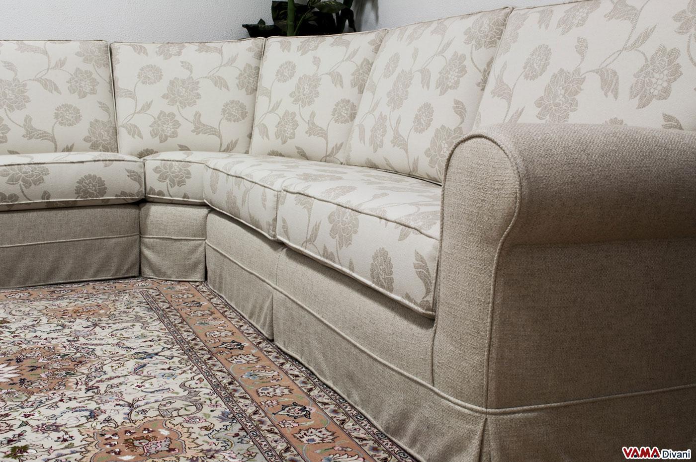 divano classico in tessuto floreale ad angolo - bingo - Soggiorno Angolare Classico