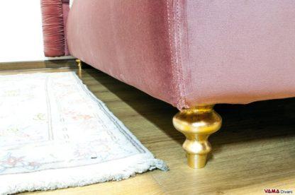 Piedino letto verniciato Foglia Oro