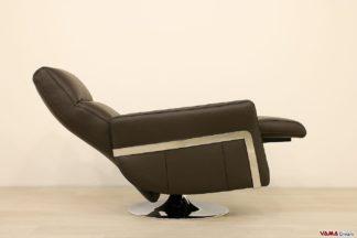 Poltrona relax manuale moderna con girevole