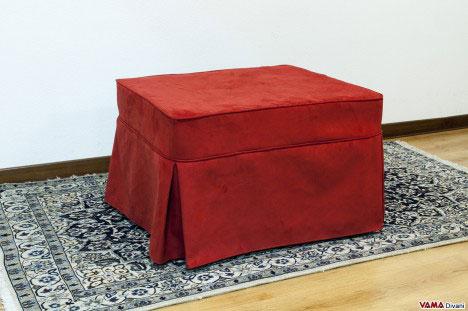 Pouf Letto con gonnella rosso