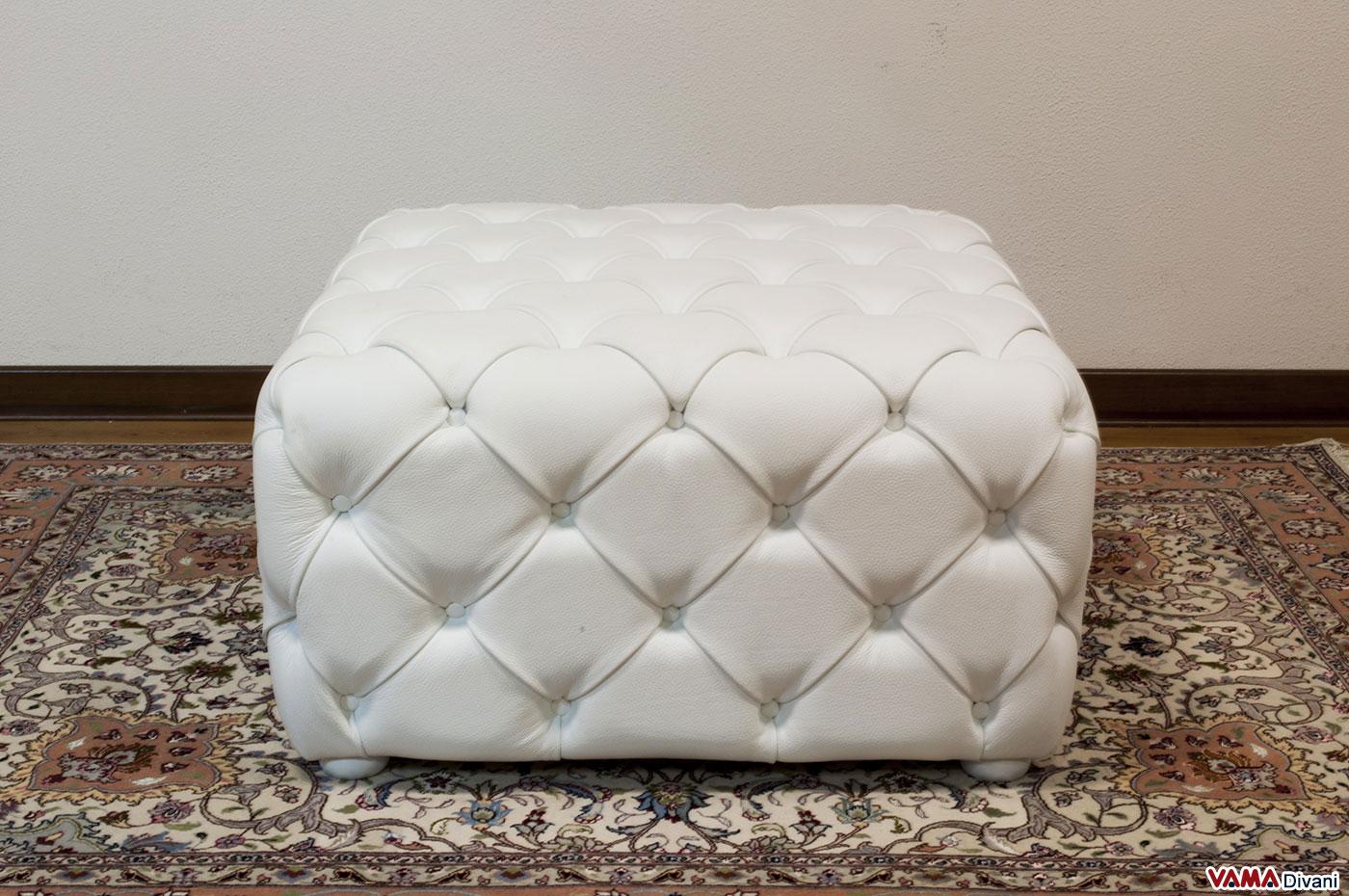 pouf tutto in capitonn realizzabile anche su misura. Black Bedroom Furniture Sets. Home Design Ideas