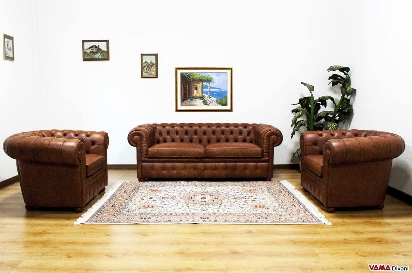 Divano pelle marrone usato: divano letto ecopelle rosso henry ...