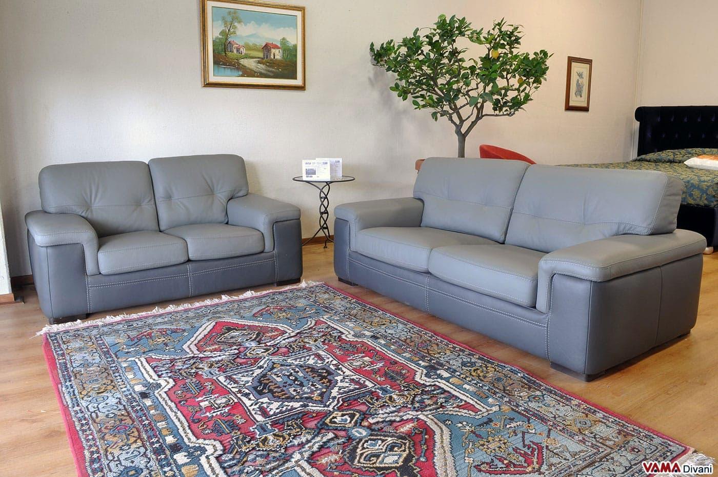 Salotto grigio chiaro idee per il design della casa - Letto in pelle ikea ...
