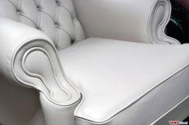 Seduta e braccioli Poltrona in Pelle Bergere con Capitonne