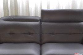 Foto Seduta e Schienale del divano Divano in pelle