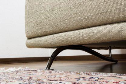 Zampa divano in acciaio lucido a onda