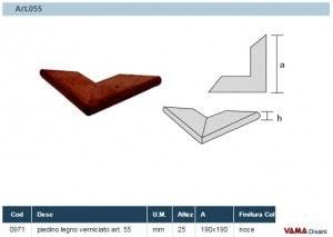 Misure Piedino in Legno piatto Art.055