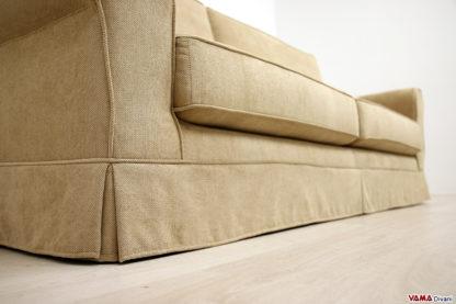 Balza con gonna del divano classico in tessuto