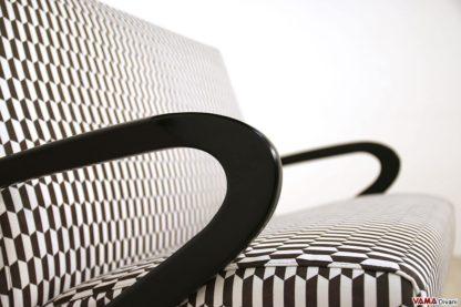 Bracciolo divano in legno laccato nero