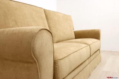 Bracciolo tondo divano classico in tessuto sfoderabile
