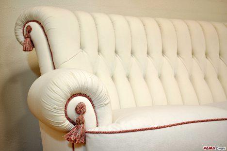 Divano di lusso classico bianco