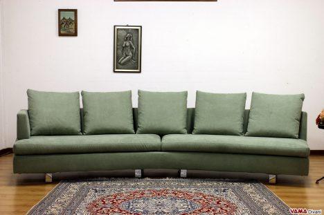divano in tessuto curvo design